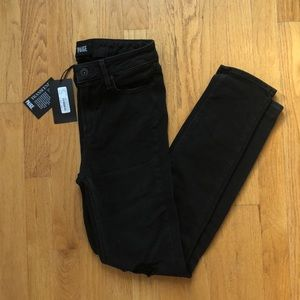 (NWT!) Paige Hoxton Crop Rollup in Carbon Black